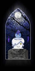 Pokemon Stained Glass Window - Litwick by Lagoon-Sadnes