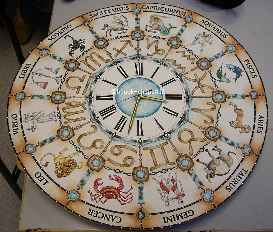 Zodiac clock by black-chips
