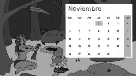 Calendario Subcultura 2018 - Noviembre by DibujanteMomar