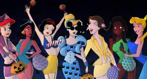 Disney Princesses on Halloween