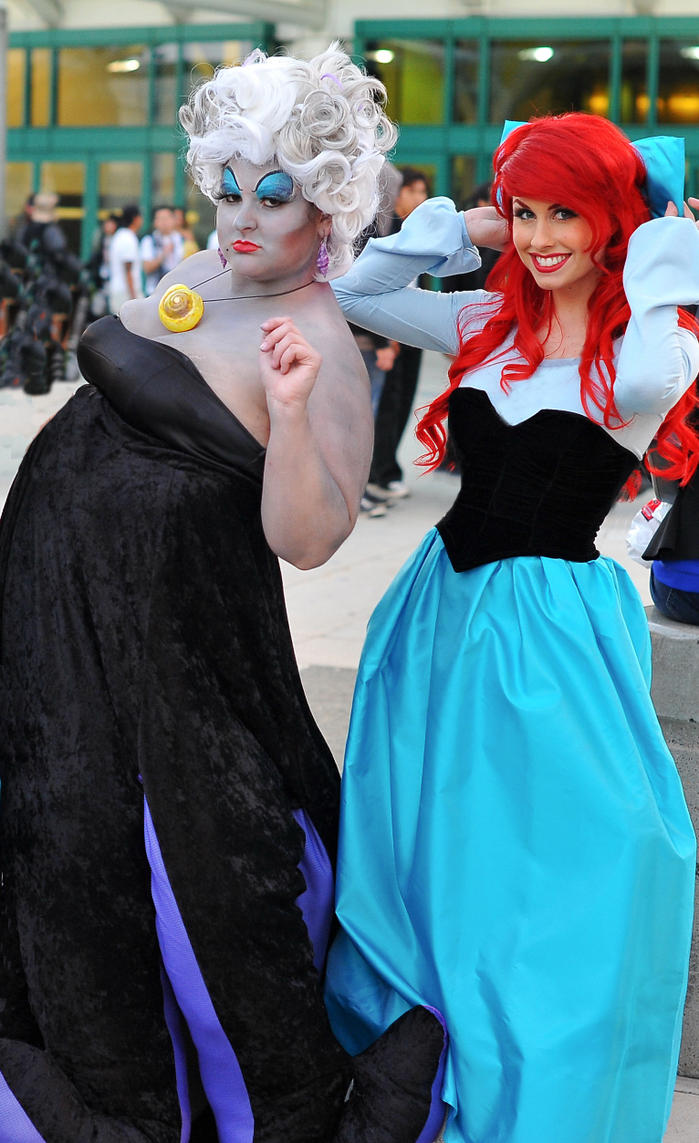 Ariel and Ursula the Sea Witch by trueenchantment