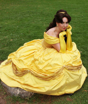 Belle Golden Ballgown photo 1
