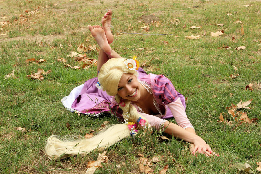 Rapunzel in the Grass by trueenchantment