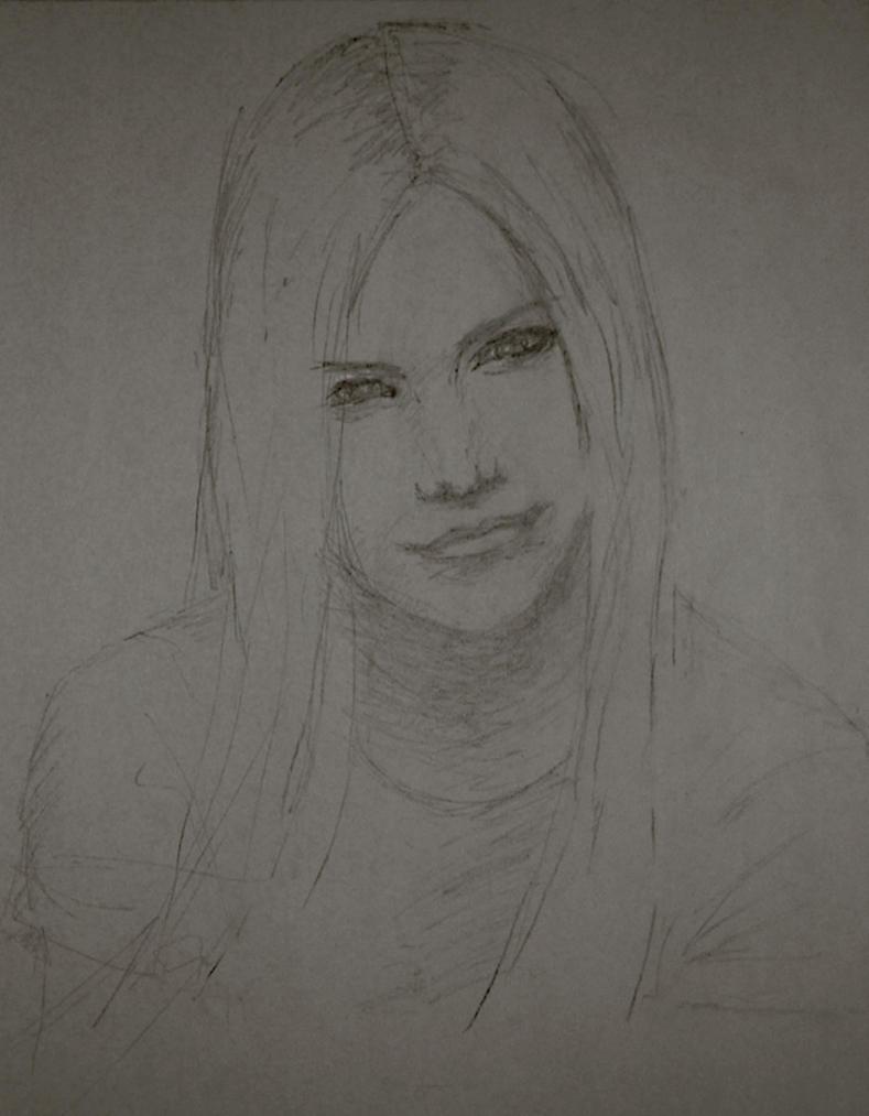 Sketch - Avril by starvingartist
