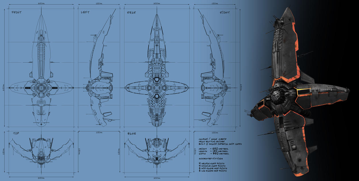 Heavy battle cruiser by Cyclodextrose