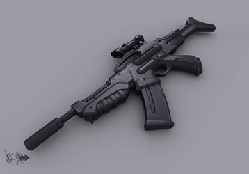 AR-41 Assault Rifle model by Cyclodextrose