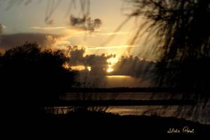 sunrays over bay by Zlata-Petal
