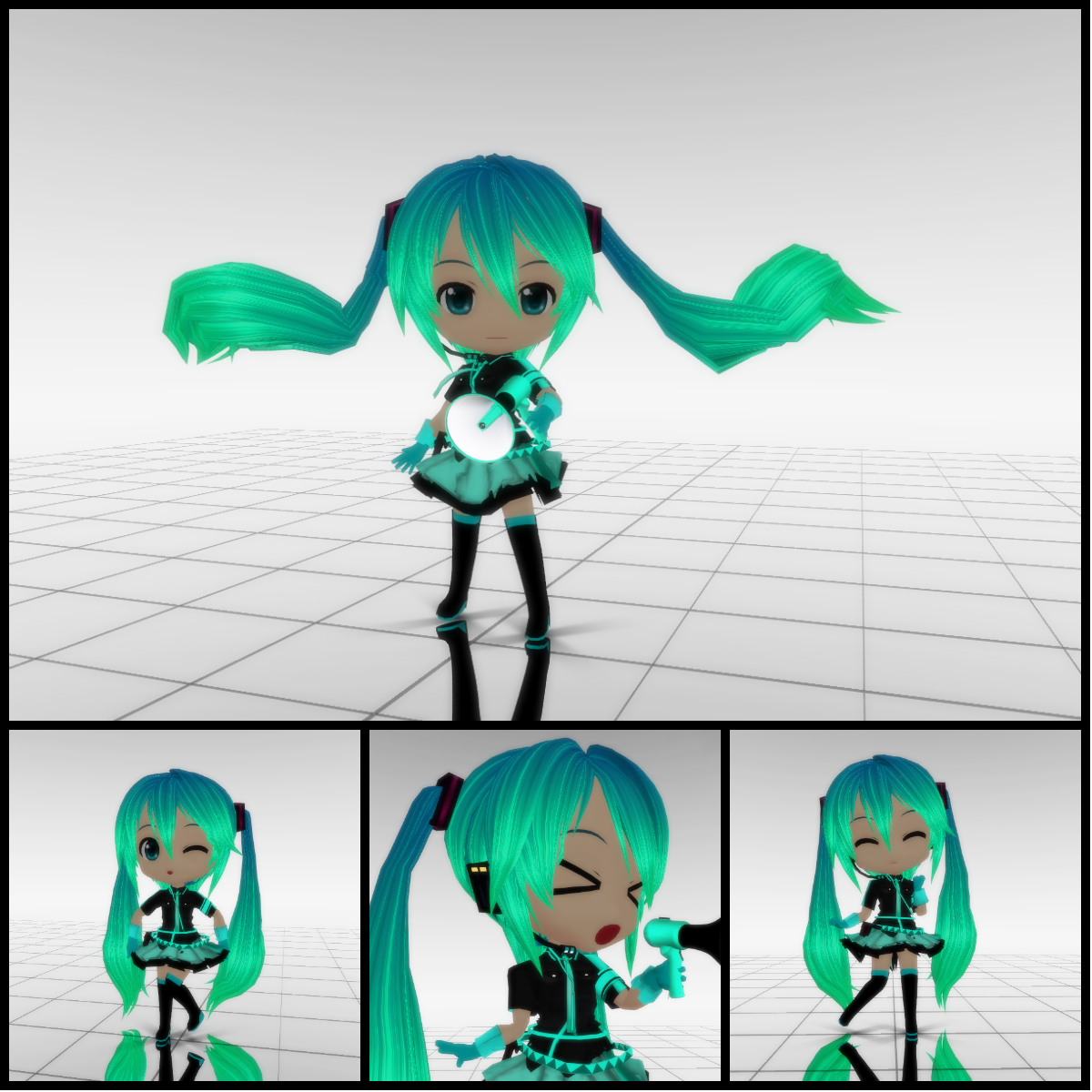 [MOTME] CHIBI Love is WAR Miku by MMD-francis-co