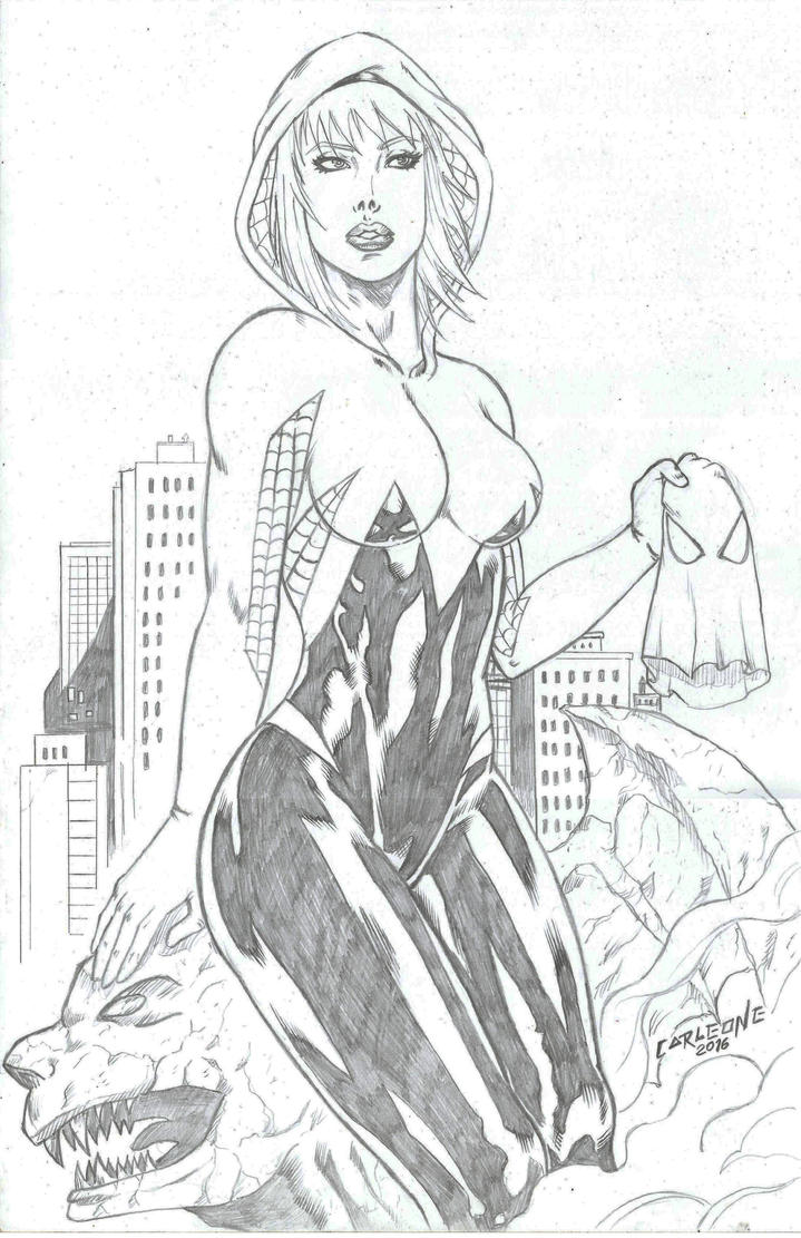 Spider Gwen by Carleonecardoso