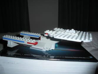 Lego Enterprise-D by rlkitterman