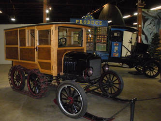 Ford Model T Snowmobile and TT Flatbed Truck by rlkitterman