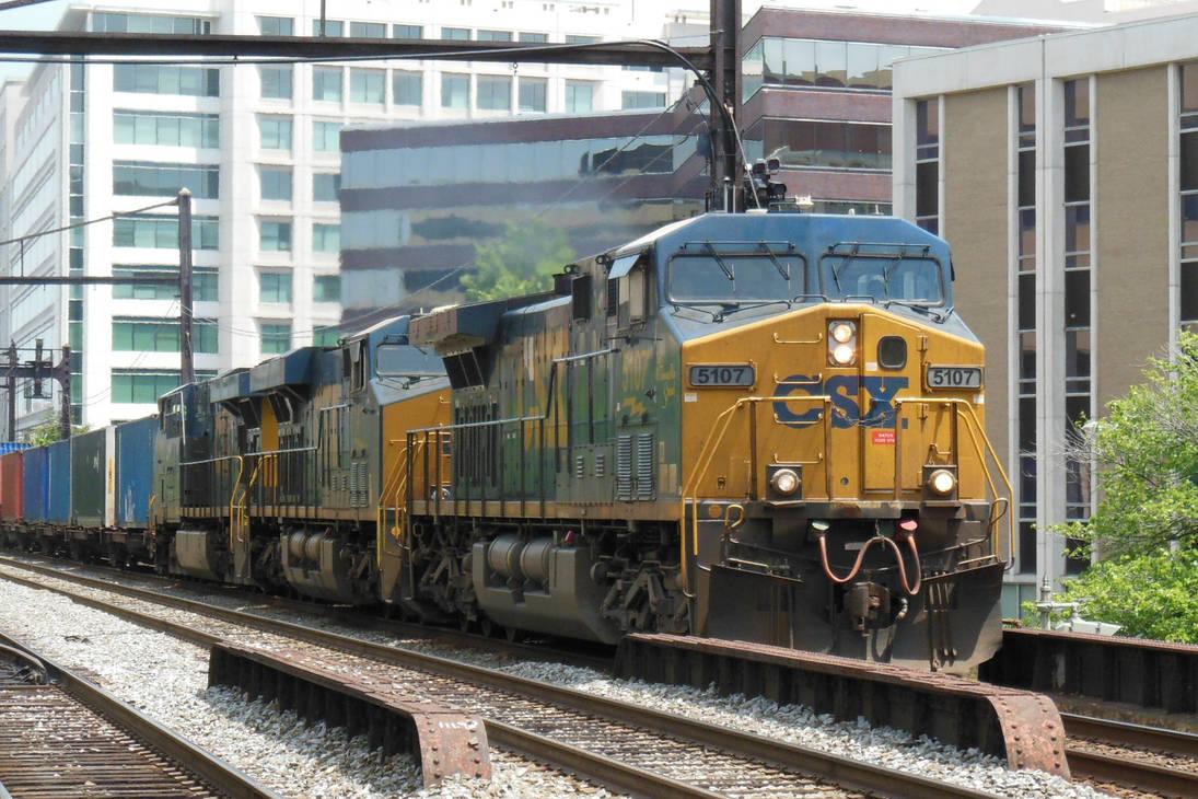 CSX 5107 Leads the Intermodal by rlkitterman on DeviantArt