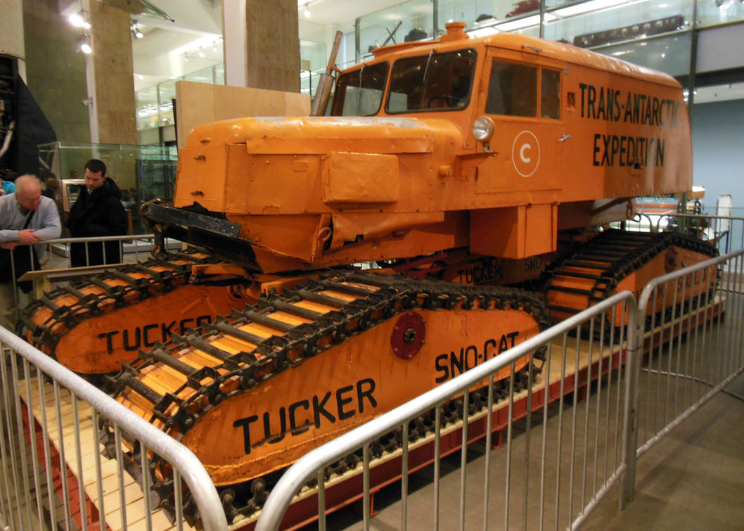 stock photo trans antarctic expedition truck science museum london