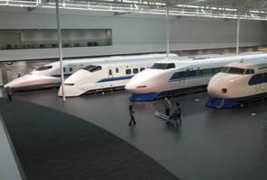 Four Shinkansen Series by rlkitterman