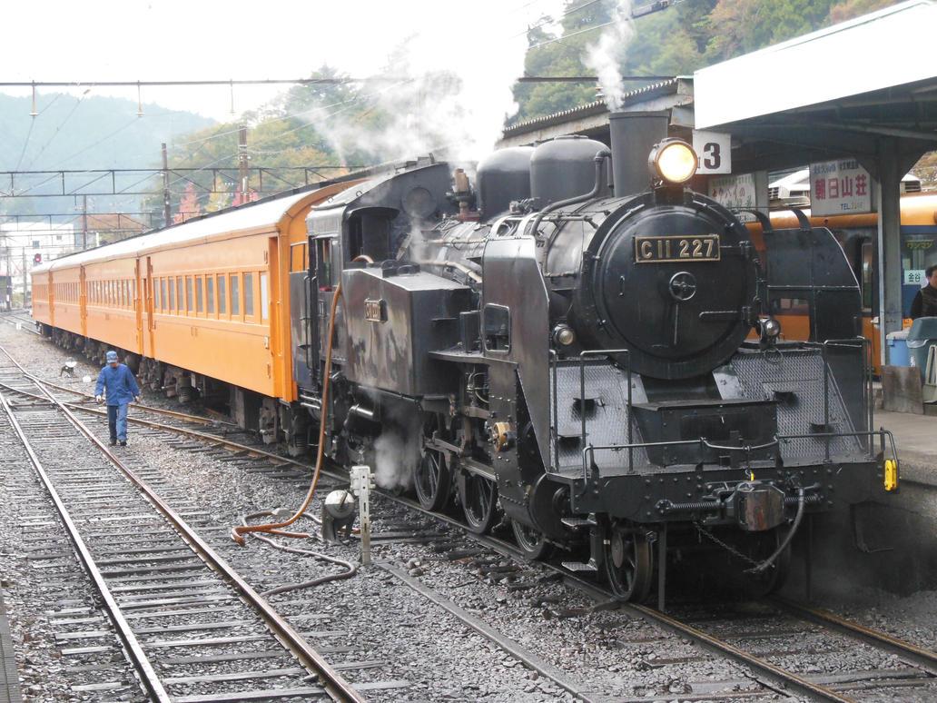 C11.227 with Orange Coaches in Senzu by rlkitterman