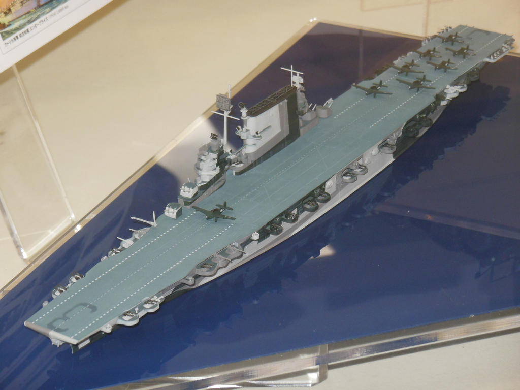 USS Saratoga CV-3 Waterline Model by rlkitterman on DeviantArt