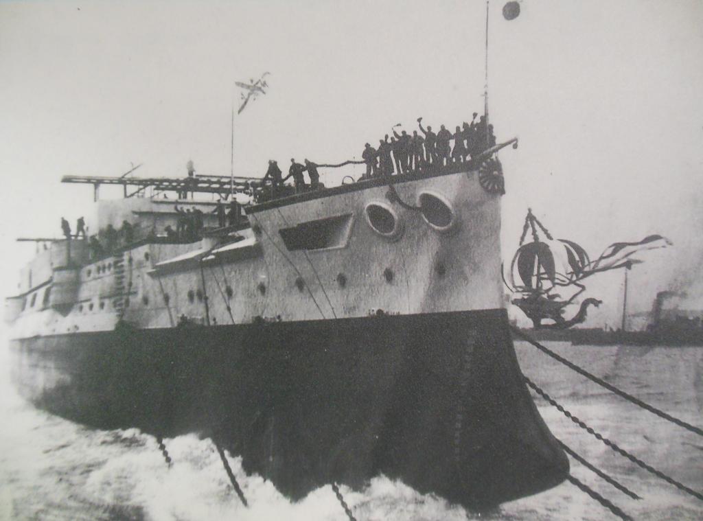 Launching HIJMS Mikasa by rlkitterman