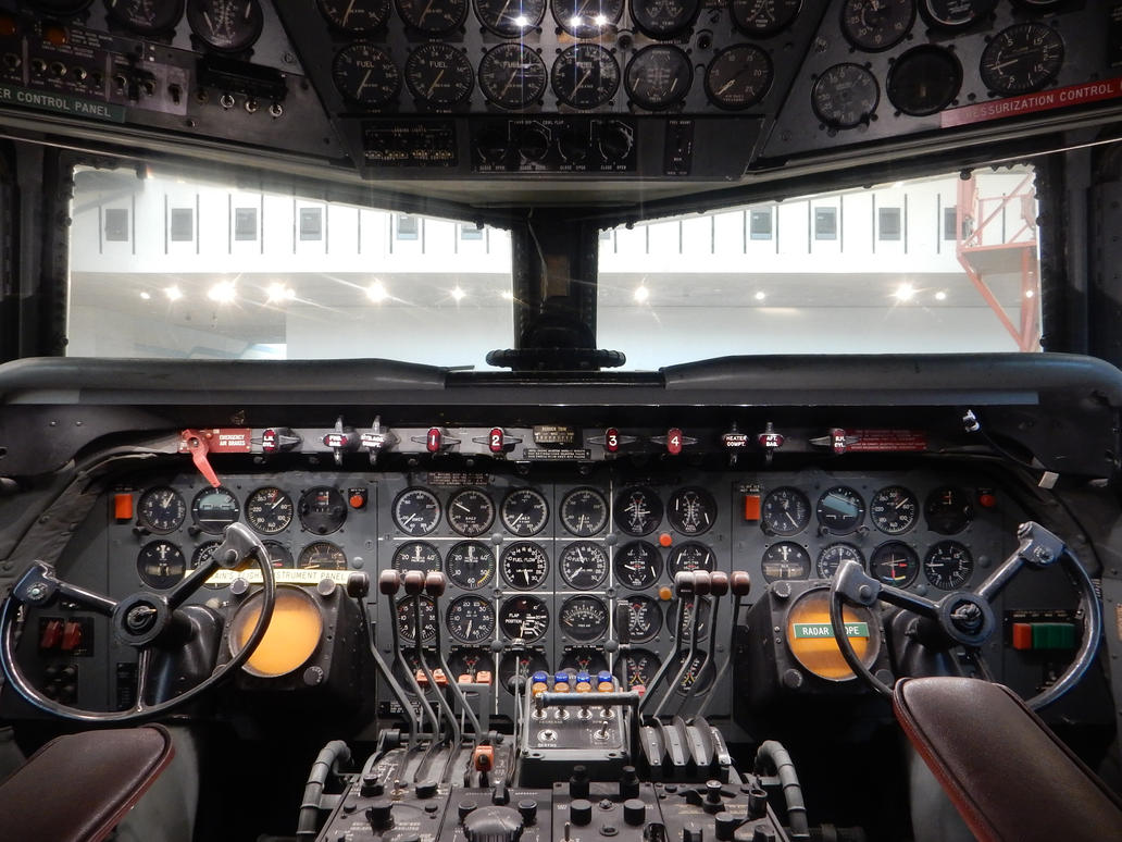 Douglas DC-7 Flagship Vermont Cockpit by rlkitterman