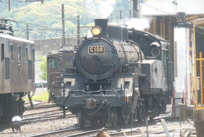 Oigawa C10.8 Leaving the Engine Shed by rlkitterman