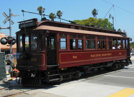 Pacific Electric Red Car 501 at Maritime Museum by rlkitterman