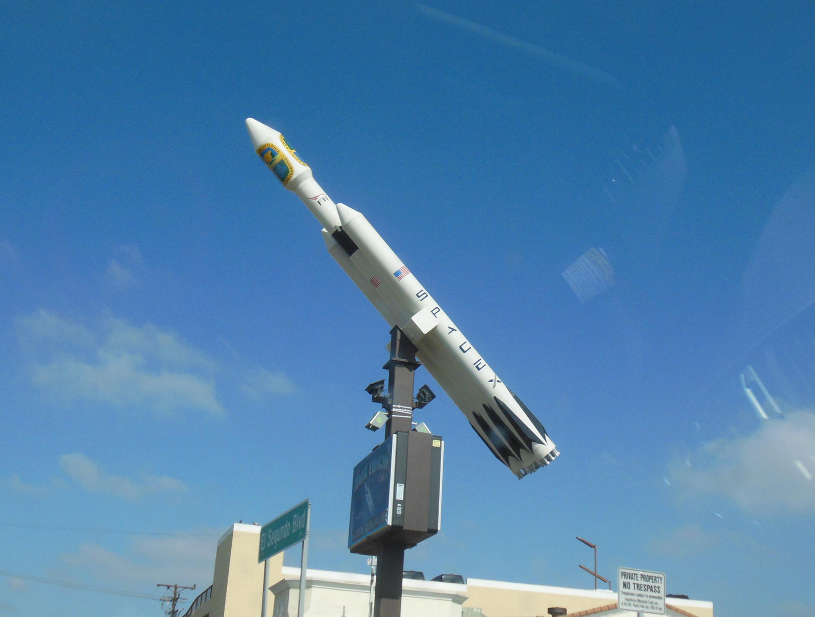 SpaceX Rocket at El Segundo and Hawthorne Blvds by ...