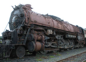 ATSF 2-10-4 No. 5021 on Storage Track by rlkitterman