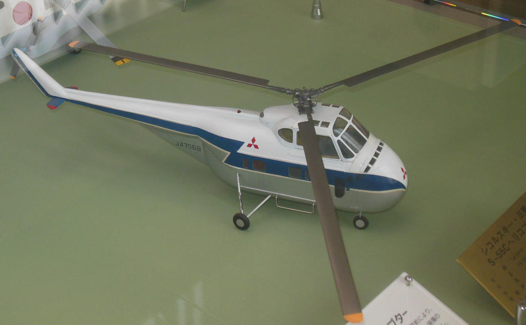 Elicottero S 55 : Mitsubishi sikorsky s helicopter ja by rlkitterman