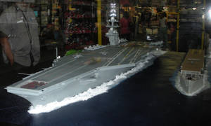 USS Langley and USS Gerald R. Ford