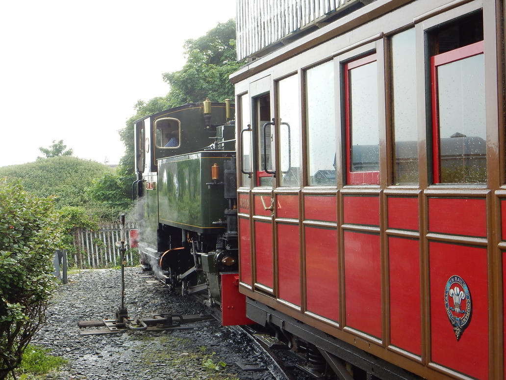 Tom Rolt and TR Carriage No. 10 at Tywyn by rlkitterman