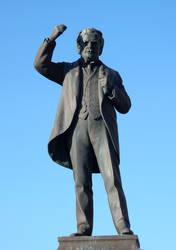 Carnarvon David Lloyd George Statue by rlkitterman