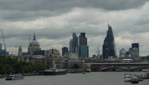 The City of London under Clouds