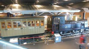 Upper Level View of IJGR No. 1's Train at Omiya by rlkitterman