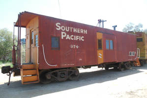 SP Ex-T+NO Bay Window Caboose 374 at OERM by rlkitterman