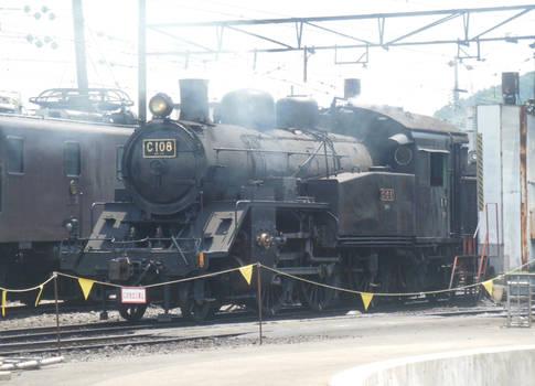 Oigawa C10.8 Leaving SL Depot Passes E102