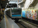 E233.136 and Ayakashi Sange Billboard at Akiba Stn by rlkitterman
