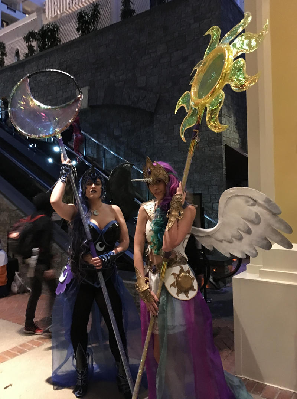 Celestia and Luna by MxGilray at Katsucon 2018