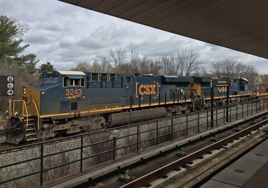 CSX 3243-866 Intermodal at Alexandria King Street by rlkitterman on