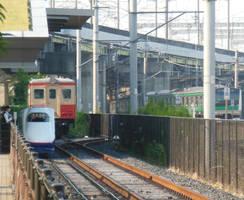 Teppaku Line Train, Kiha1125 and Saikyou E233.7xxx by rlkitterman