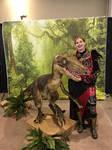 Kat Katan with Velociraptor at EV2018