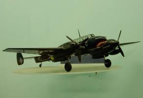 Model NJG4 Schnaufer Bf 110C at Elvington by rlkitterman
