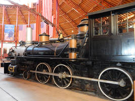 Clinchfield Number One in Mount Clare Roundhouse by rlkitterman