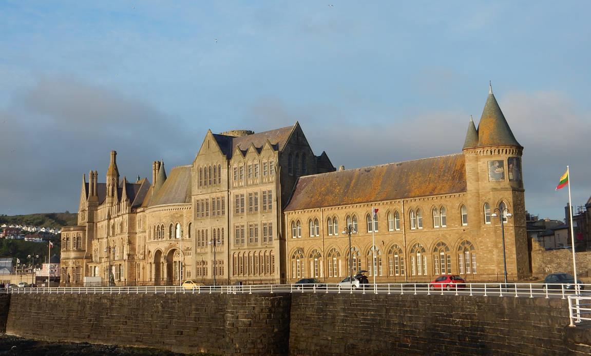 Aberystwyth University Old College Building มหาวิทยาลัยในอังกฤษ