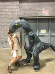 Muldoon and Velociraptor 2 at Awesome Con 2019
