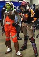 Hera Syndulla and Sabine Wren 2 at Awesomecon 2019