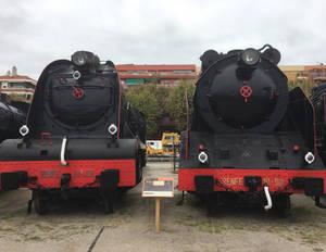 MZA 1808 vs Norte 5001 at Catalonia Railway Museum