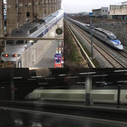 TGV 7550, KTX 504, and AVE S.100