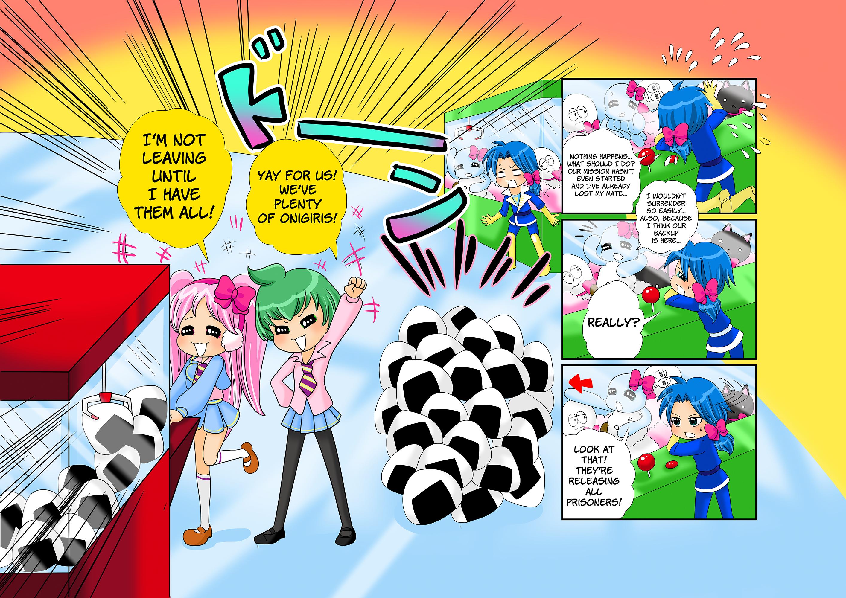 Mitsume Temo pilot manga - page 20-21 by Takisse