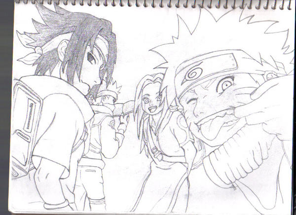 Team 7 Sketch by Sutefu-Kasaichi
