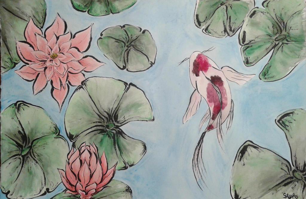 Koi Pond by Sutefu-Kasaichi
