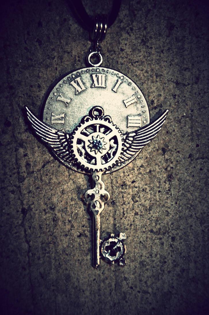 Tardis key necklace by PrincessSongBird